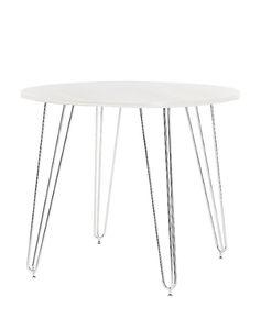 Стол Aller chrome, D1000*750 белый (25)