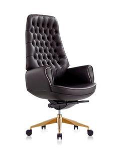 Кресло 9132 Prezident (натур.кожа/черный)
