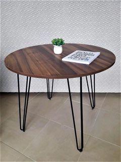 Стол Aller negru (18) 900*750 орех теплый