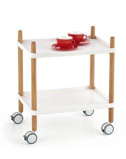 Стол BAR 10 (белый/бук)