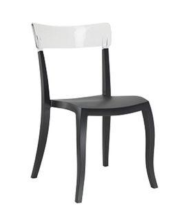 Стул Hera-S (сиденье черный, спина прозрачный)