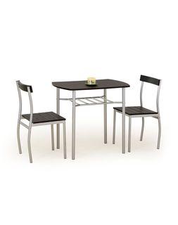 Комплект Lance (стол+2 стула, чёрные)
