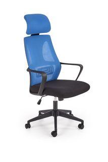 Кресло Valdez (albastru/negru)