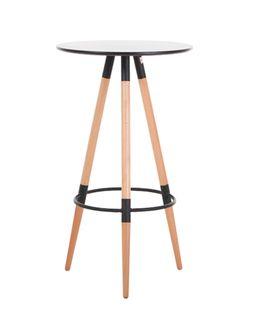Стол барный, опоры дерево 600x1050 mm, черный XH-218B