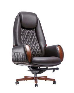 Кресло F183-1 Boing (натуральная кожа/коричневый)