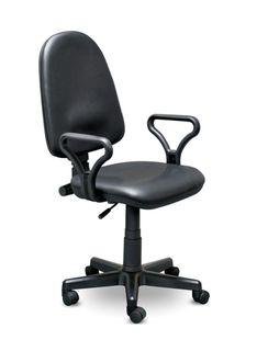 Кресло Prestige Lux 50/AMF1, кожа черный