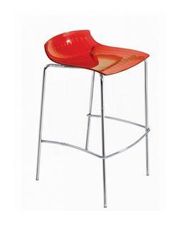 Барный стул X-Treme-BSS (красный прозрачный)