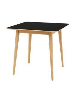 Masa cu suprafata si picioare din lemn, 800x800x750 mm, negru TB-08-8080N