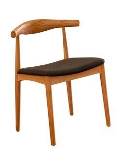 Scaun din lemn cu sezut negru, 570x580x590/600x270x280 mm WS-021