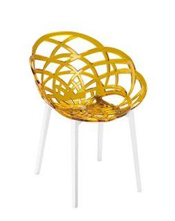 Кресло Flora (оранжевый/белый)