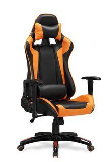 Кресло DEFENDER (черный/оранжевый)