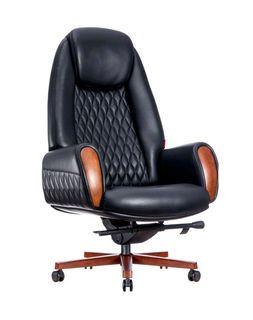 Кресло F183-1 Boing (натур.кожа/черный)