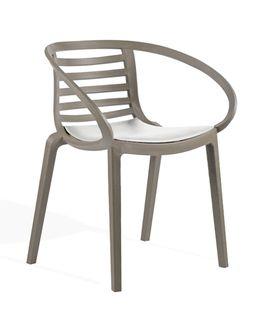 Кресло Mambo (серо-коричневый/белый)