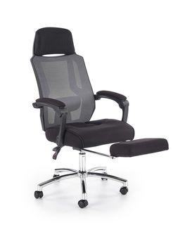 Кресло FREEMAN с подставкой для ног (черно/серый)