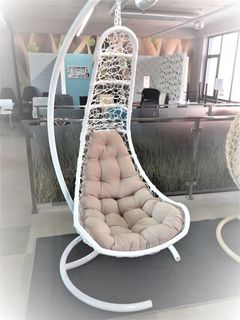 Кресло-кокон Lepestoc Alb