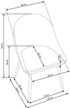 купить Кресло K406 (серый) в Кишинёве