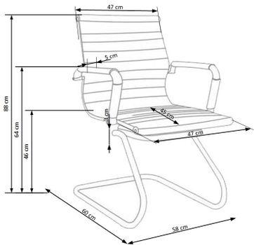 купить Кресло PRESTIGE SKID (черный) в Кишинёве