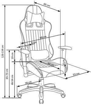 купить Кресло DEFENDER (черный/оранжевый) в Кишинёве