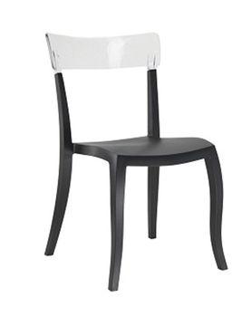 купить Стул Hera-S (сиденье черный, спина прозрачный) в Кишинёве