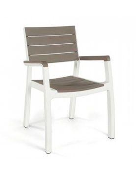 cumpără HARMONY scaun cu brate capucino/alb în Chișinău
