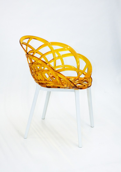 купить Кресло Flora (оранжевый/белый) в Кишинёве