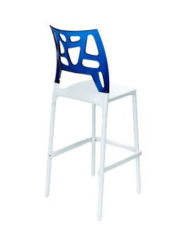 купить Барный стул Ego Rock (белый/синий) в Кишинёве