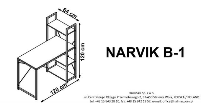 купить Стол письменный NARVIK B1 в Кишинёве