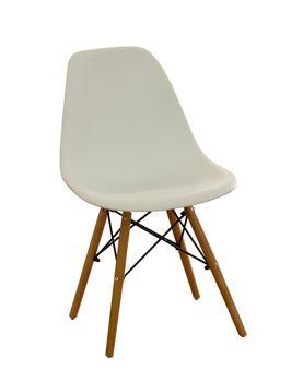 купить Scaun din plastic cu picioare de lemn cu suport metalic, 500x460x450x820 mm, alb XH-8056W в Кишинёве