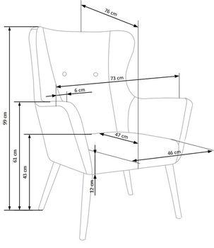 купить Кресло COTTO (синий) в Кишинёве