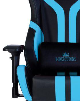 купить Кресло HEXTER PRO R4D Tilt MB70 ECO/03 черный-синий в Кишинёве