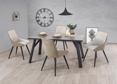 купить Set Masa HALIFAX (beton) cu 4 scaune K243 (beton/gri) в Кишинёве