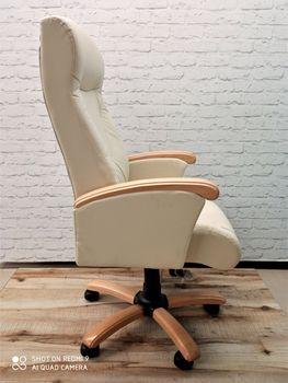 купить Кресло Galant MB, Buc, кожа Lux Vanil combi в Кишинёве