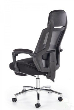 купить Кресло FREEMAN с подставкой для ног (черно/серый) в Кишинёве