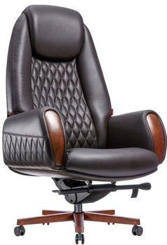 купить Кресло F183-1 Boing (натуральная кожа/коричневый) в Кишинёве