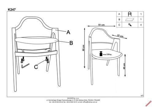 купить Кресло K344 (серый) в Кишинёве