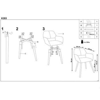 купить Кресло K283 (синий) в Кишинёве