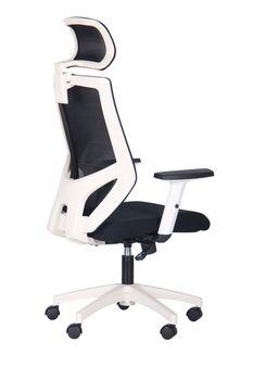 купить Кресло Lead HR (белый/nest 1/spate HY черный) в Кишинёве