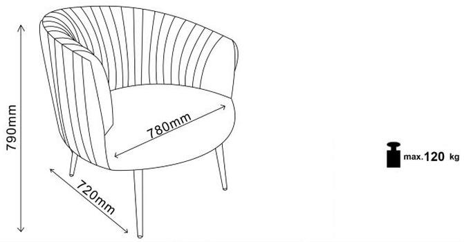 купить Кресло Crown (чёрный) в Кишинёве