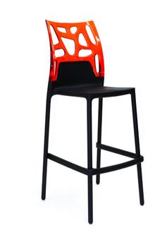 купить Барный стул Ego Rock (черный/красный) в Кишинёве