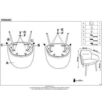 купить Кресло VERANO в Кишинёве