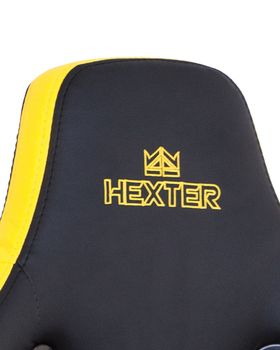 купить Кресло HEXTER PRO R4D Tilt MB70 ECO/01 черный-желтый в Кишинёве