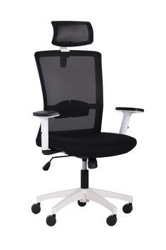 купить Кресло Uran HR (белый/sidney 7/черный) в Кишинёве