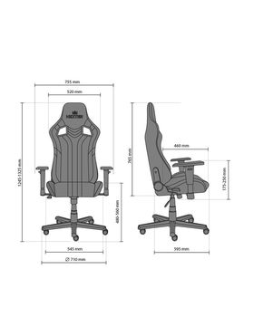 купить Кресло HEXTER PRO R4D Tilt MB70 ECO/03 черный-зеленый в Кишинёве