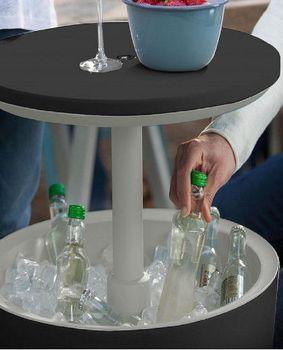 купить COOL BAR Стол-холодильник мокко/серый в Кишинёве