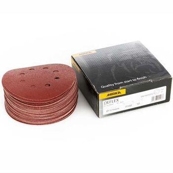купить Шлифовальный круг Mirka  DEFLEX P240, 125mm, 8H 3061605025 50 шт/уп в Кишинёве