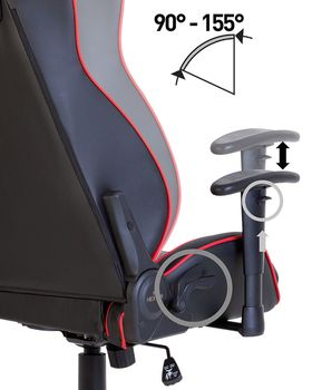 купить Кресло HEXTER MX R1D Tilt PL70 ECO/02 (черный/красный) в Кишинёве