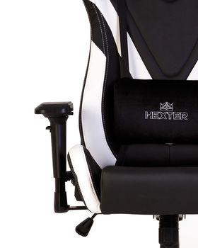 купить Кресло HEXTER PRO R4D Tilt MB70 ECO/02 черный-белый в Кишинёве