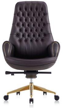 купить Кресло 9132 Prezident (натур.кожа/черный) в Кишинёве