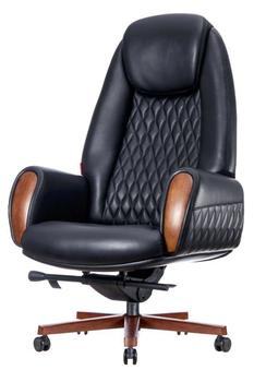 купить Кресло F183-1 Boing (натур.кожа/черный) в Кишинёве