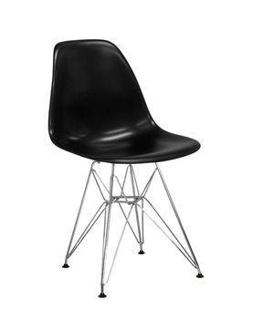 купить Scaun din plastic cu picioare metalice cromate 490x490x790 mm,negru PC-016 в Кишинёве